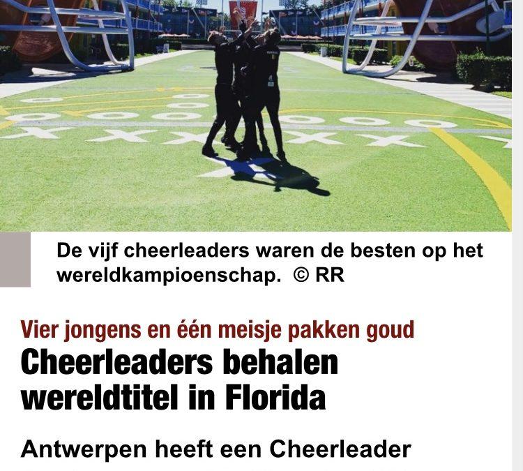 Cheerleaders behalen wereldtitel in Florida